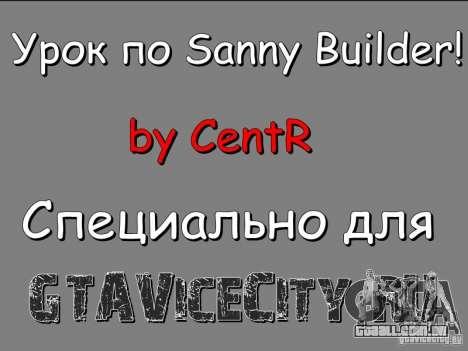 Lição para o Sanny Builder v3.04