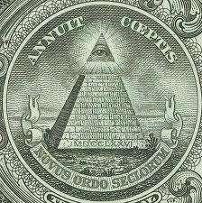 Símbolo Illuminati na nota