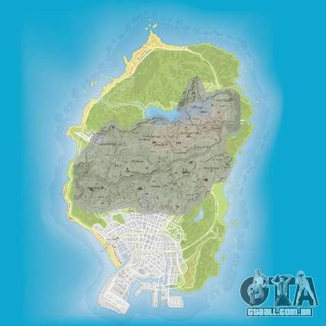 uma comparação do tamanho dos mapas do GTA 5 e Red Dead Redemption