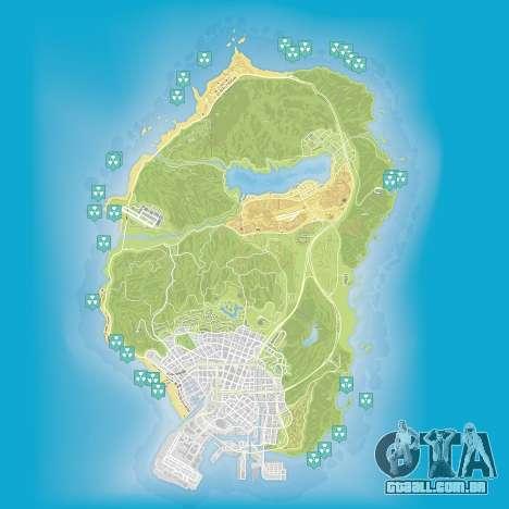 Mapa de los residuos nucleares pt Grand Theft Auto 5