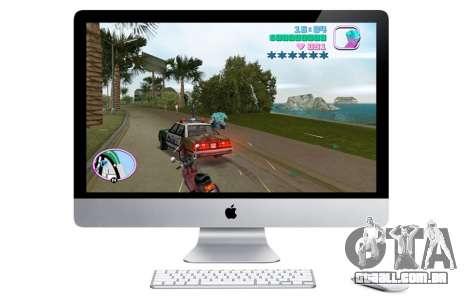 o Lançamento de GTA VC para mac OS X na América do Norte