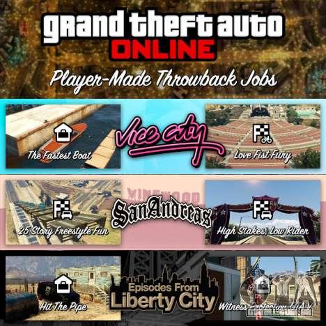 Missões de GTA Online: voltar no tempo
