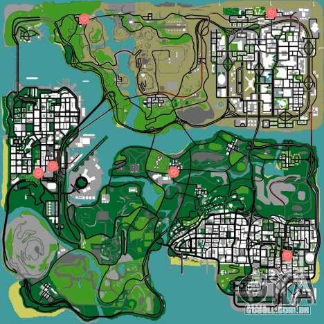GTA San Andreas meninas mapa