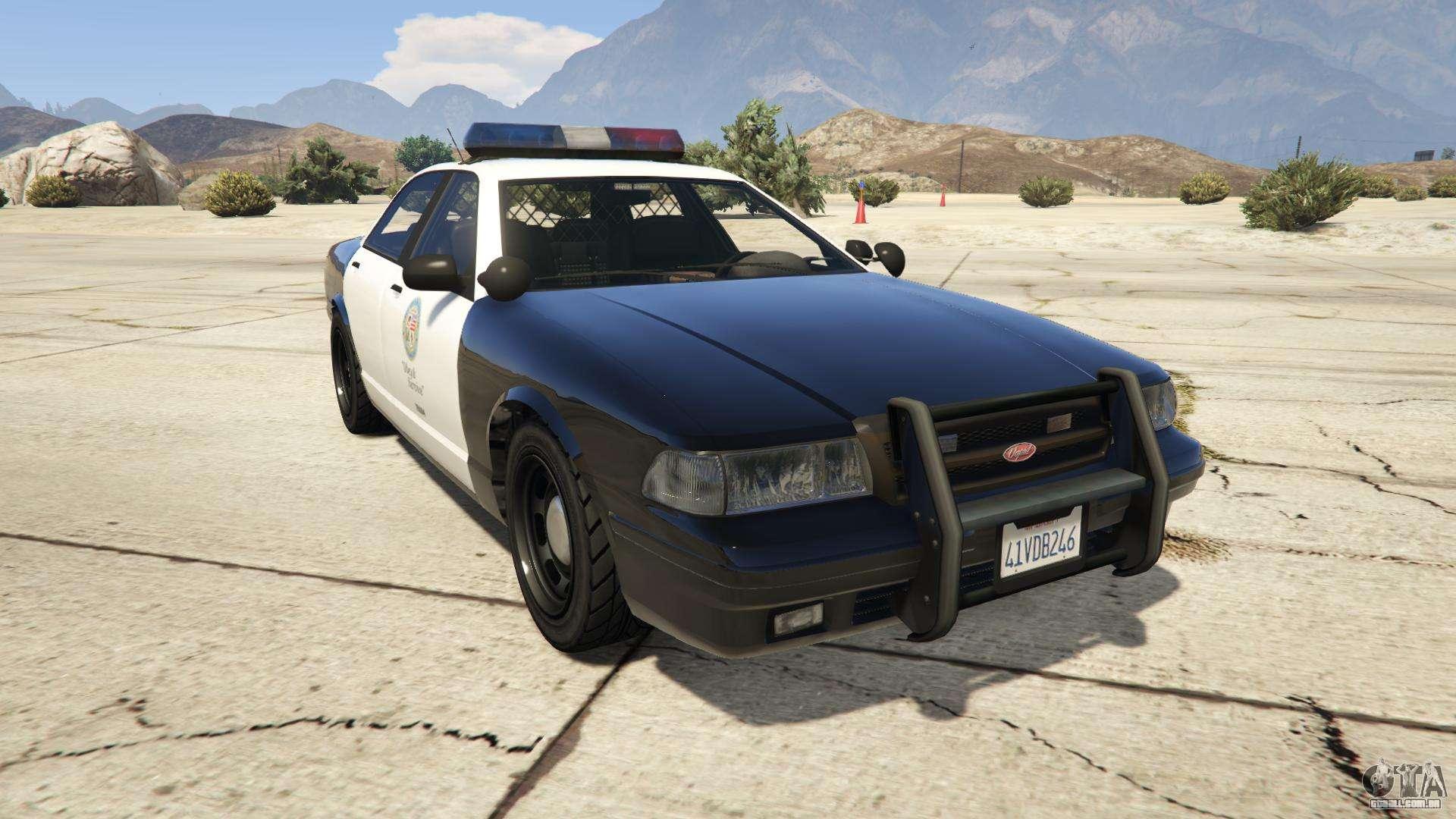 GTA 5 Vapid Police Cruiser - vista frontal
