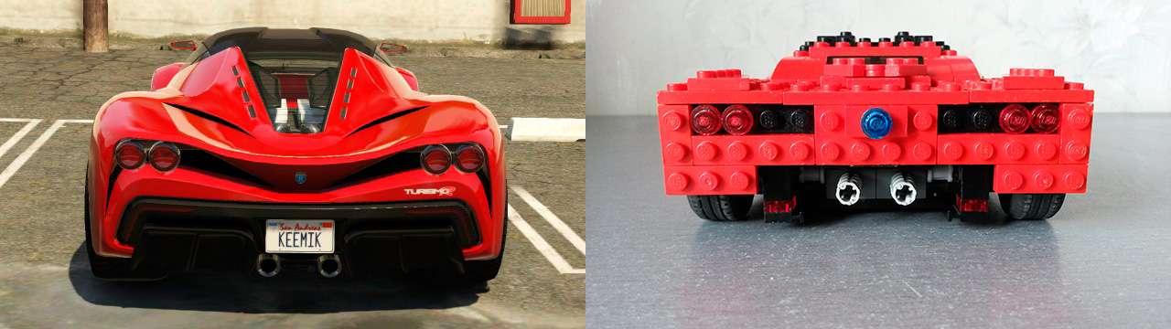 Lego Grotti Turismo R - vista posterior