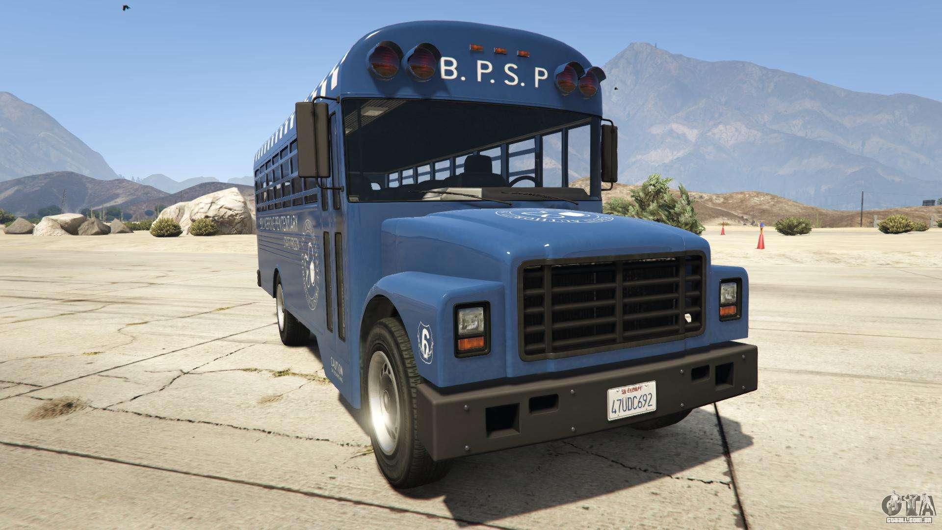 GTA 5 Vapid Prison Bus - vista frontal