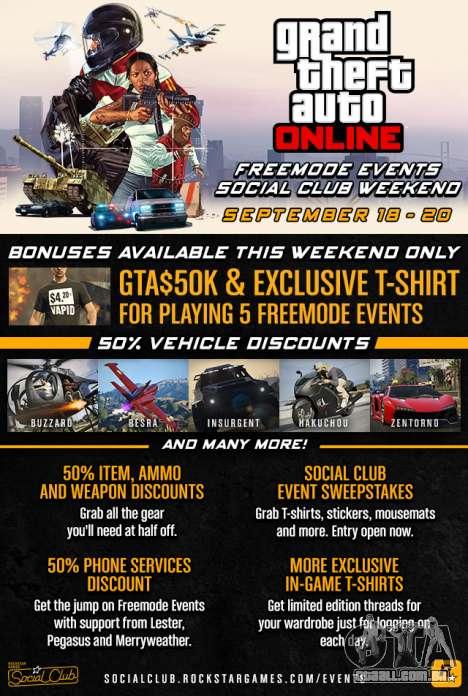 GTA Online Freemode Eventos de fim-de-Semana
