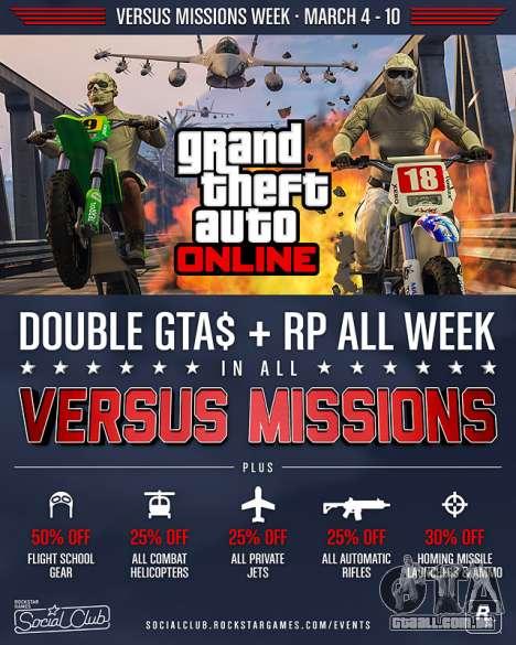Versus Missões Semana em GTA Online