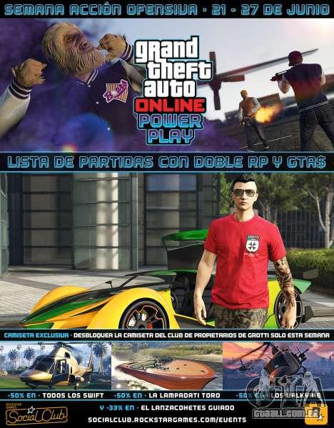 Outro evento semanal em GTA Online