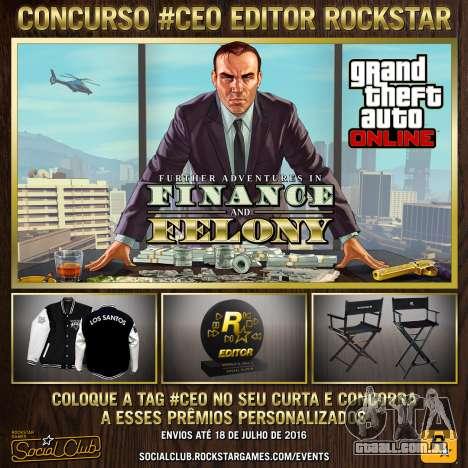 #CEO da Rockstar, Editor do concurso