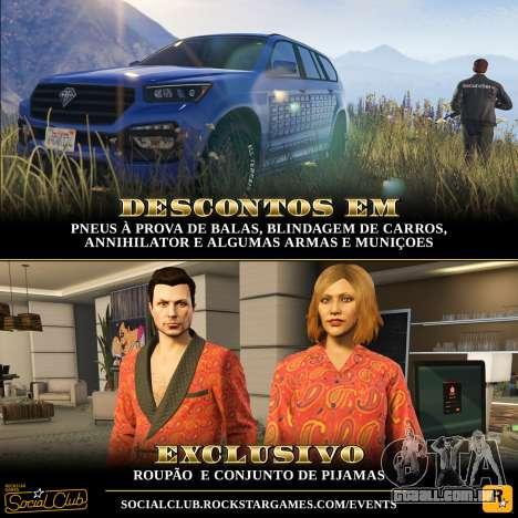 conteúdo Exclusivo e ofertas especiais em GTA Online