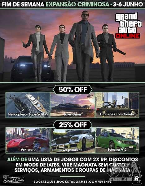 Expansão Criminosa de fim-de-Semana em GTA Online