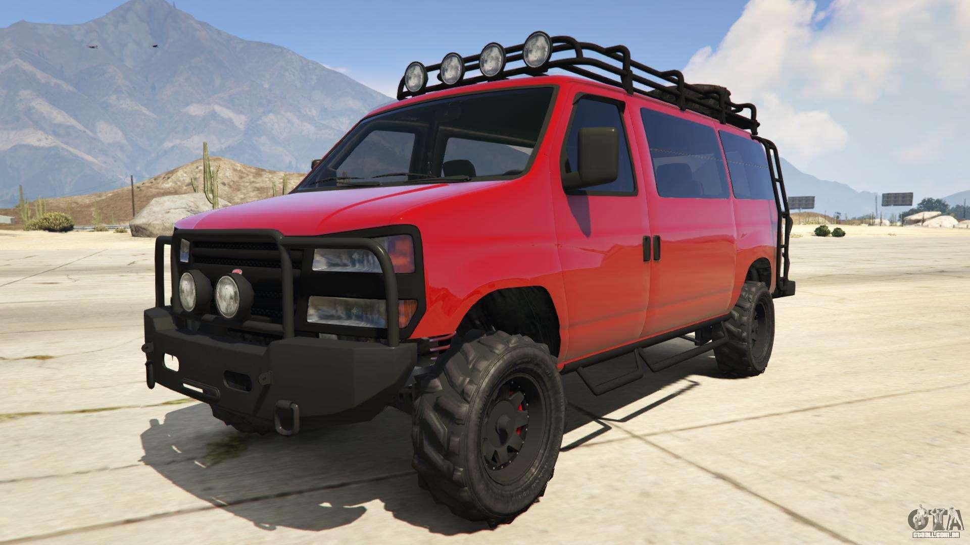Bravado Rumpo Custom de GTA Online - vista frontal