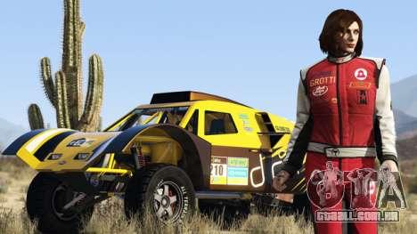 Dublê e seu carro em GTA Online