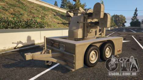 Anti-Aircraft Trailer do GTA 5 vista frontal