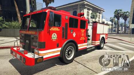 caminhão de bombeiros<br />