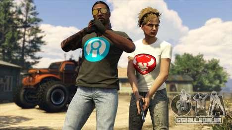 Presente de t-shirts em GTA Online
