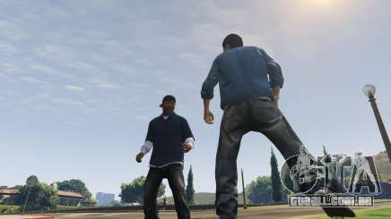 Luta de rua em GTA 5 Online