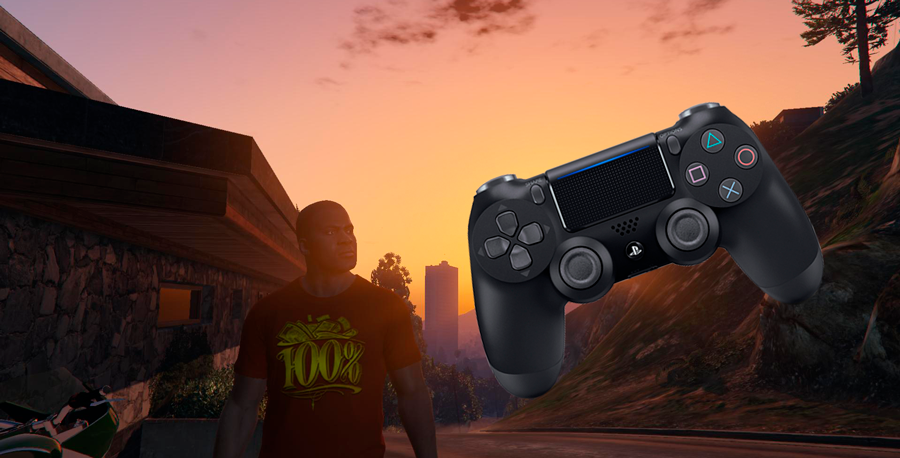 Para se conectar a um controlador de jogo em GTA 5