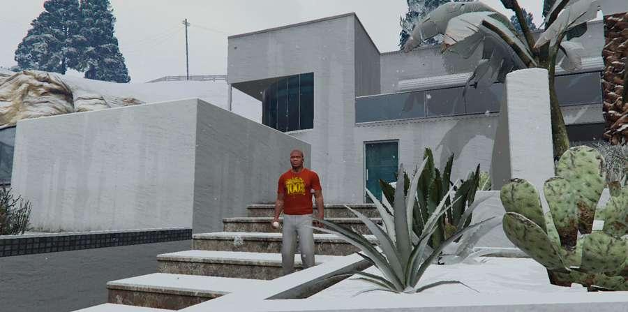 Luta de bolas de neve no GTA 5
