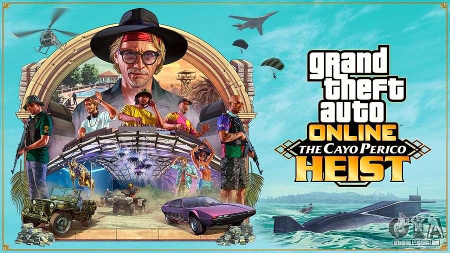 O ataque a Cayo Perico chega em 15 de dezembro no GTA Online