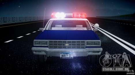 Chevrolet Impala Police 1983 para GTA 4 interior