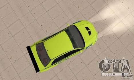 Mitsubishi Lancer Evo The Fast and the Furious 2 para GTA San Andreas vista direita