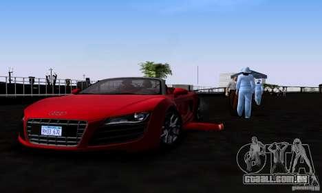 Audi R8 Spyder para GTA San Andreas vista direita
