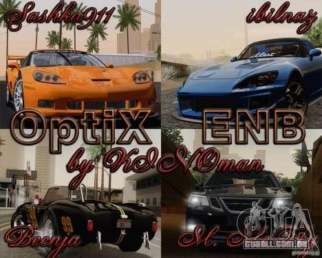 Optix ENBSeries para PC médias para GTA San Andreas