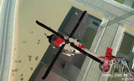 HH-60 Jayhawk USCG para vista lateral GTA San Andreas