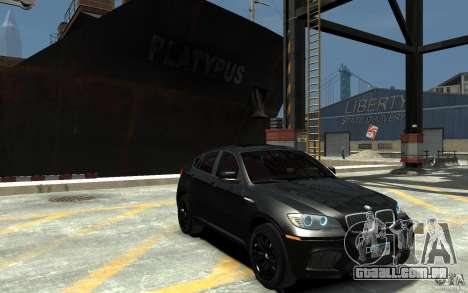 BMW X6 M para GTA 4 vista de volta