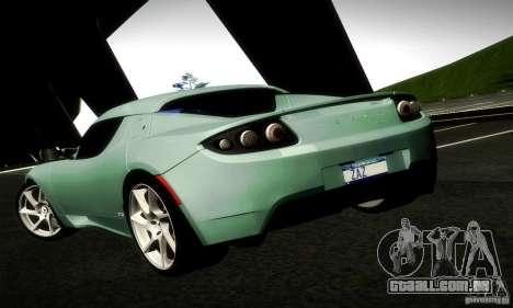 Tesla Roadster Sport para GTA San Andreas traseira esquerda vista