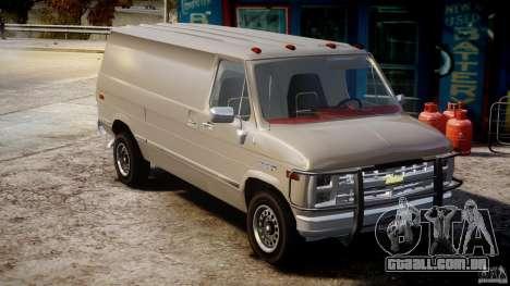 Chevrolet G20 Vans V1.1 para GTA 4 vista direita