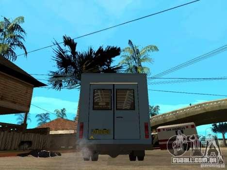 Ruta de gazela para GTA San Andreas traseira esquerda vista