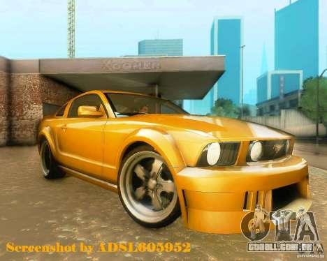 Ford Mustang GT 2005 Tunable para GTA San Andreas esquerda vista