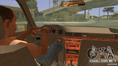 Mersedes-Benz E500 para GTA San Andreas vista superior
