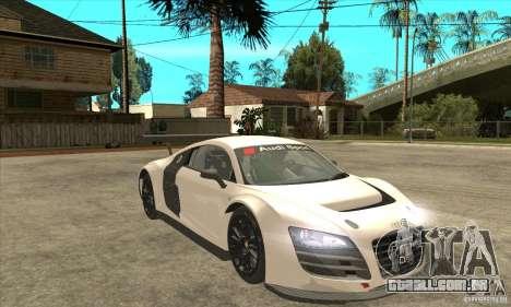 Audi R8 LMS v1 para GTA San Andreas vista traseira