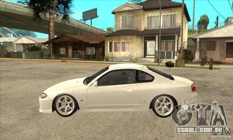 Nissan Silvia S15 Japan Drift para GTA San Andreas esquerda vista