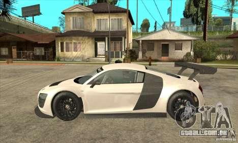 Audi R8 LMS v1 para GTA San Andreas esquerda vista