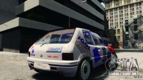 Peugeot 205 Rally para GTA 4 traseira esquerda vista