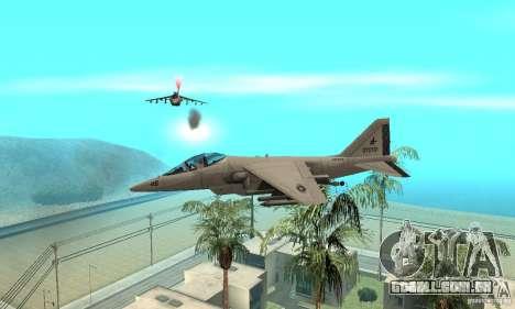 Guerra aérea para GTA San Andreas por diante tela