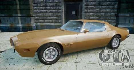 Pontiac Firebird 1970 para GTA 4 esquerda vista