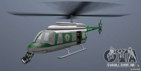 VCPD Chopper para GTA Vice City vista traseira esquerda