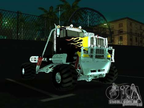 Kenworth W900 Monster para GTA San Andreas vista traseira