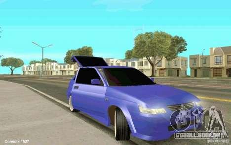 Lada 2112 Coupe para GTA San Andreas traseira esquerda vista