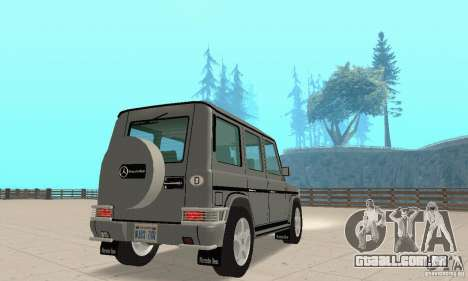 Mercedes-Benz G500 1999 v. 1.1 kengurâtnikom para GTA San Andreas