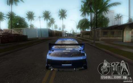 Toyota Supra Chargespeed para GTA San Andreas vista superior