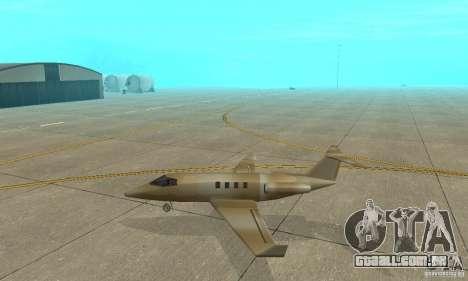 Gold shamal para GTA San Andreas esquerda vista