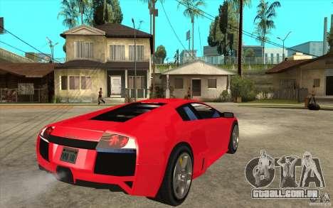 Lamborghin Murcielago LP640 v2 para GTA San Andreas vista direita