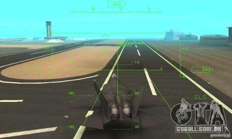 YF-22 Black para GTA San Andreas vista superior